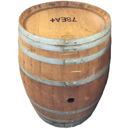 single french oak wine barrel