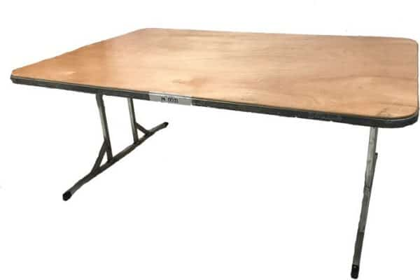 Flatfold table 1.8m x 1.2 for hire