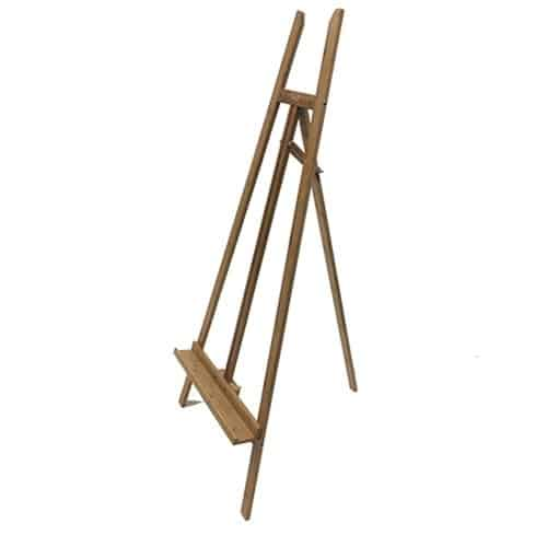 side of wooden easel