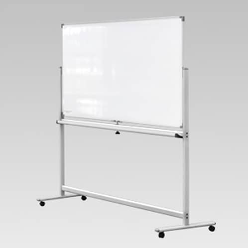 White board on aluminium frame with castors