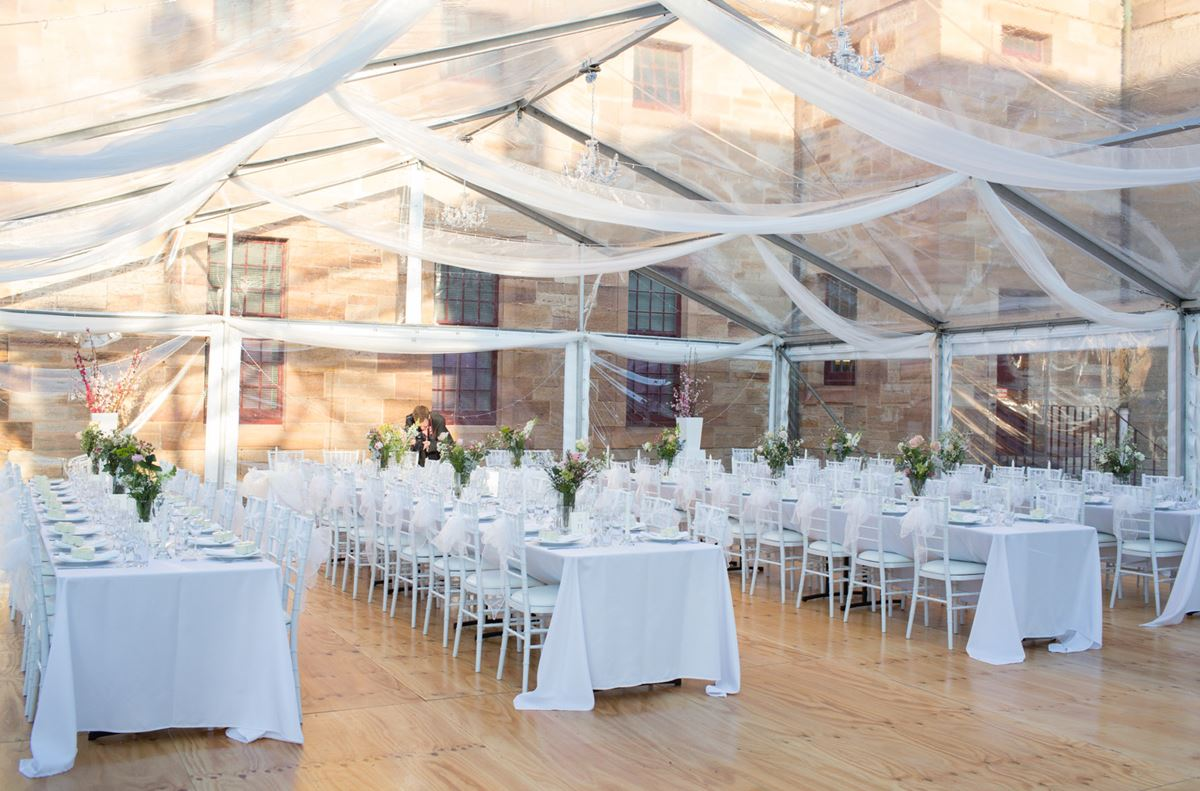 easywedding 10m clear roof marquee