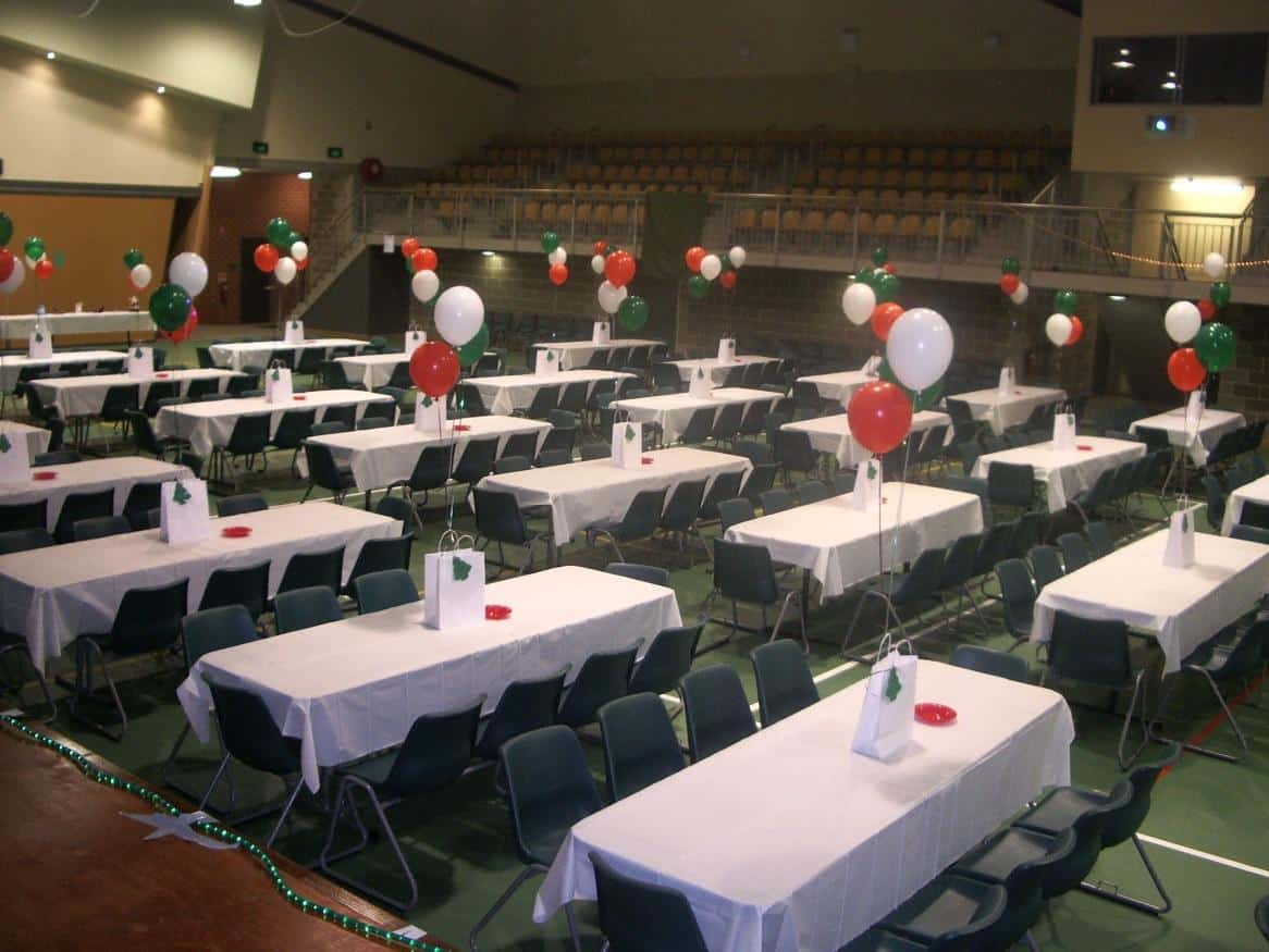 Example of table and chair hire for local schools for events such as Trivia Nights