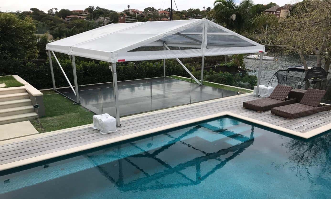 Stunning 6x6 Clear Roof Marquee Hire - No Walls in Mosman