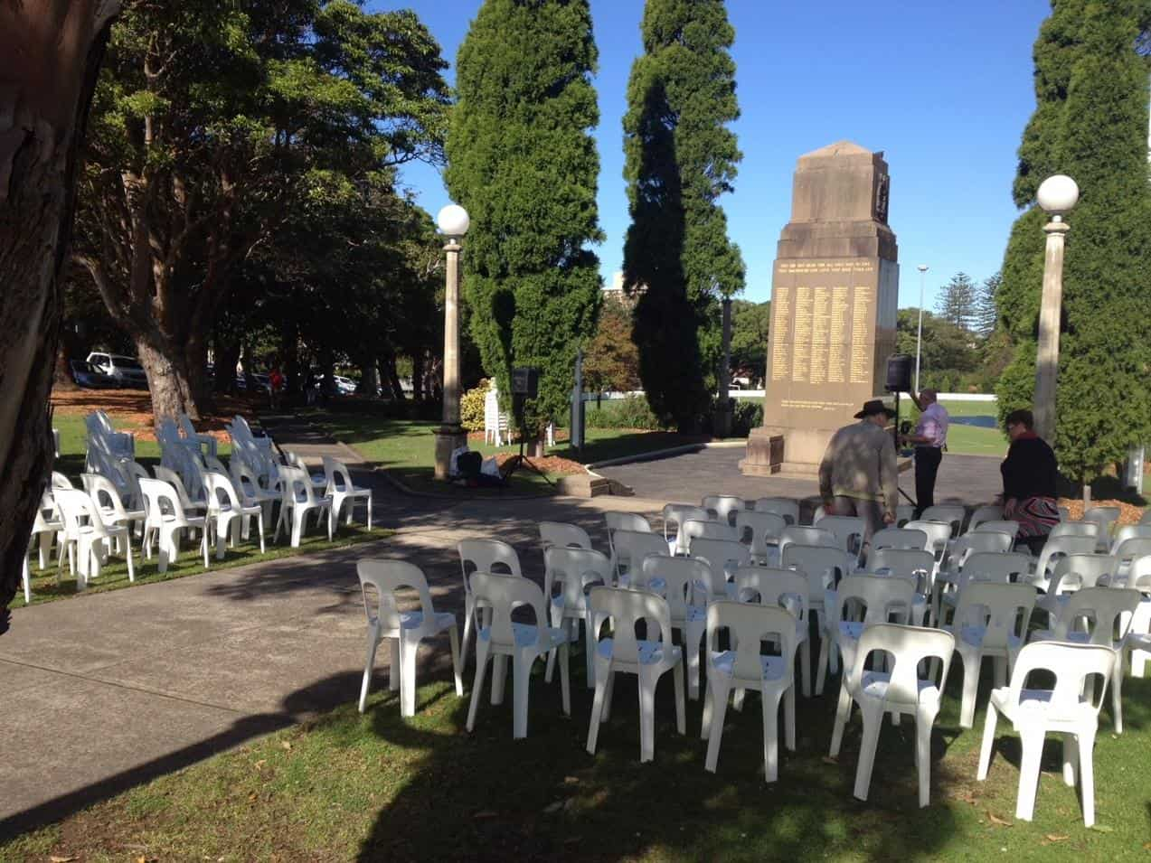 Chair Hire Set Up for Mosman Sub Branch Anzac Services