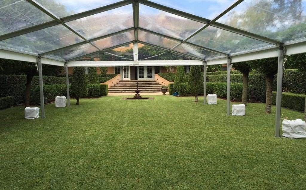 Stunning 6x15 Clear Roof with no walls marquee in Warrawee