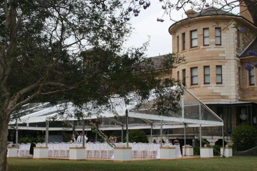 Wedding and Event Marquee Hire at the Sydney College of the