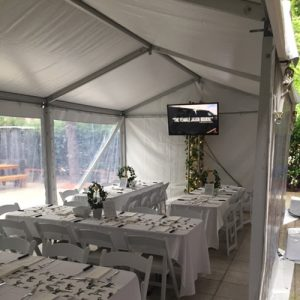 Marquee Hire - 3m wide