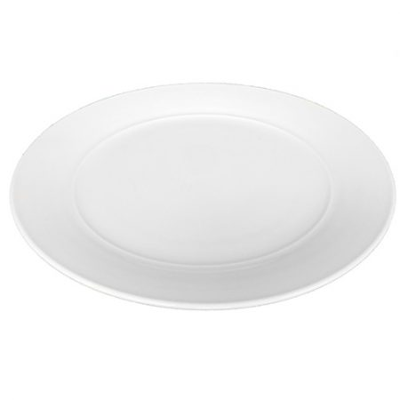Aura Collection White Dinner Plate