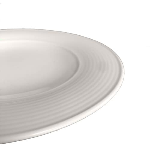 Aura Collection White Entree plate side view