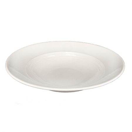 White Aura Collection Salad Bowl Top View
