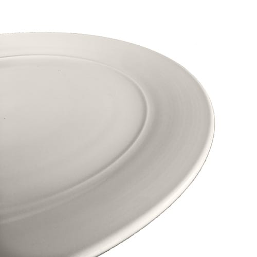 White Aura Collection Dinner plate side view