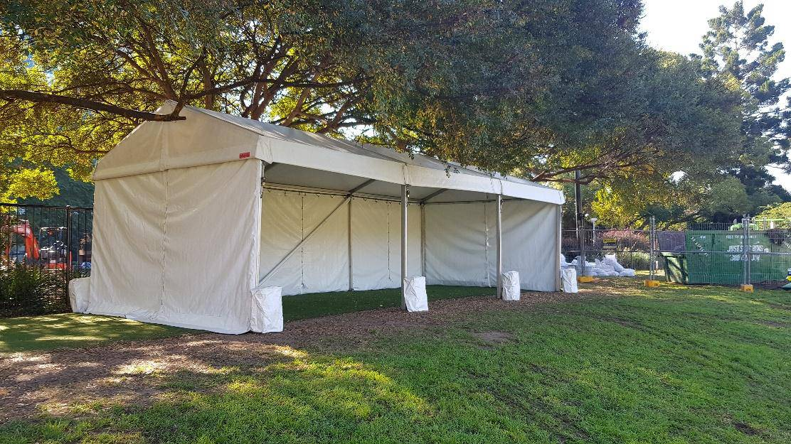 4x9m marquee ready for an event at Chatswood Oval